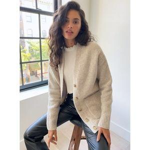 Aritzia Wilfred Pisa cardigan coat sweater beige M